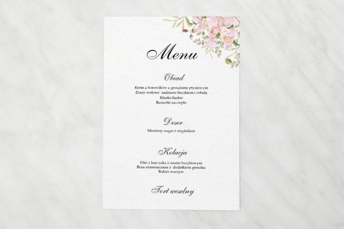 menu-weselne-kwiatowe-galazki-rozowe-roze-papier-satynowany
