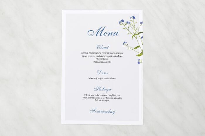 menu-weselne-minimalistyczne-z-kwiatem-niezapominajka-papier-matowy