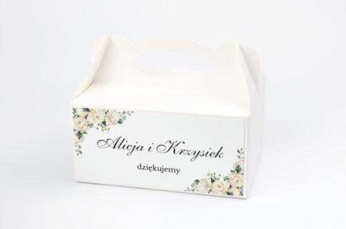 Ozdobne pudełko na ciasto - Geometryczne – Hortensje