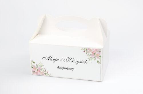 Ozdobne pudełko na ciasto - Kwiatowe Gałązki - Różowe Róże