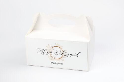 Ozdobne pudełko na ciasto - Z szyfonową wstążką – Magnolia