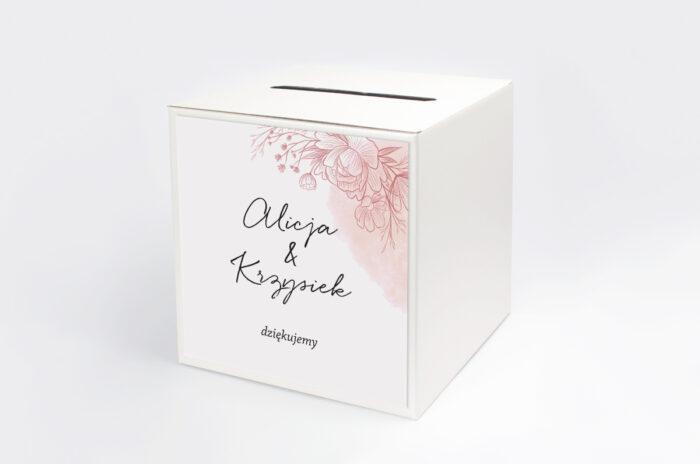 personalizowane-pudelko-na-koperty-z-nawami-delikatne-kwiaty-rozowy-kontur-papier-satynowany-pudelko-