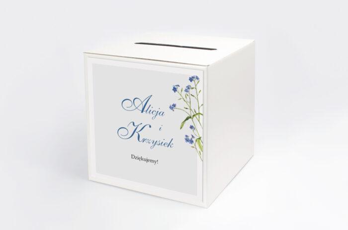 personalizowane-pudelko-na-koperty-minimalistyczne-z-kwiatem-niezapominajka-papier-satynowany-pudelko-