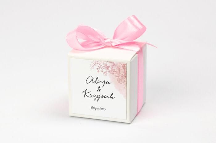 pudeleczko-z-personalizacja-do-zaproszenia-z-nawami-delikatne-kwiaty-rozowy-kontur-kokardka--krowki-bez-krowek-papier--pudelko-