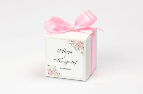 Pudełeczko z personalizacją - Kwiatowe Gałązki - Różowe Róże