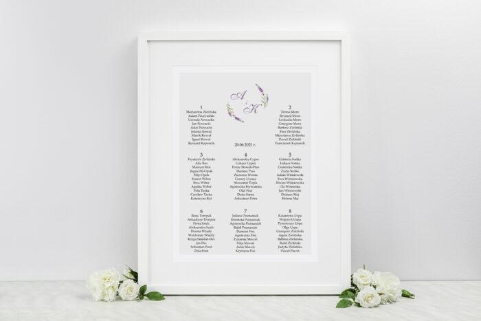 plan-stolow-weselnych-minimalistyczne-z-kwiatem-lawenda-dodatki-ramka-papier-ecruefakturowany