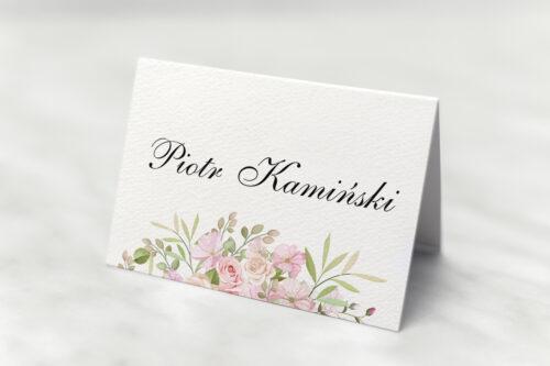 Winietka ślubna - Kwiatowe Gałązki - Różowe Róże