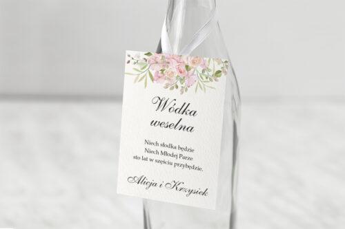 Zawieszka na alkohol - Kwiatowe Gałązki - Różowe Róże