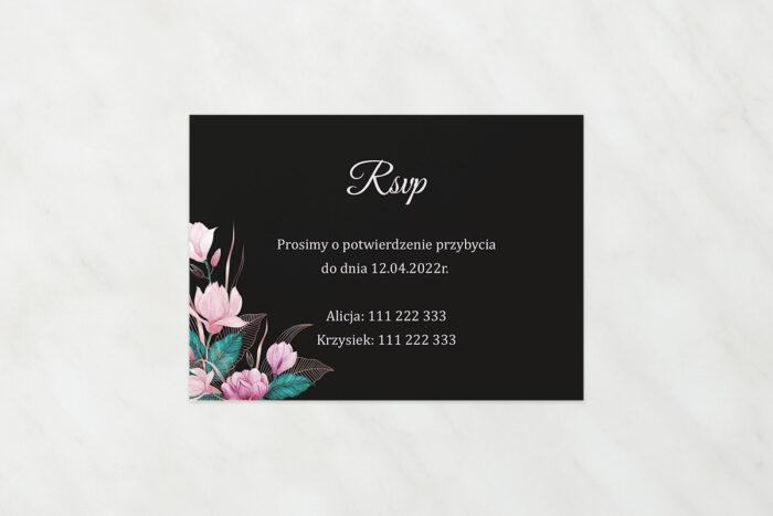 rsvp-do-zaproszen-geometryczne-serce-rozowe-kwiaty-ciemne-papier-satynowany