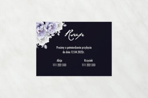 RSVP do zaproszeń Kontrastowe z kwiatami – Niebieskie róże