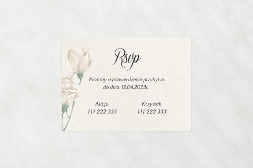 Dodatkowa karteczka do zaproszeń Kwiatowe Gałązki – Białe Róże