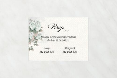 Dodatkowa karteczka do zaproszeń ze zdjęciem i sznurkiem – Błękitne Róże