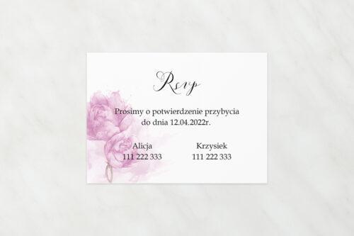 Dodatkowa karteczka do zaproszeń Namalowane Kwiaty - Fioletowe kwiaty