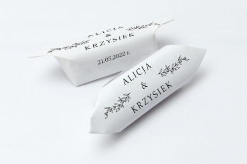 krówki weselne do zaproszenia minimalistyczne delikatne