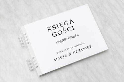 księga gości weselnych do zaproszenia minimalistyczne delikatne