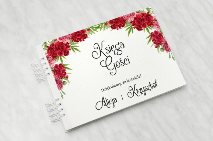 ksiega-gosci-do-zaproszenia-ze-zdjeciem-i-sznurkiem-czerwone-gozdziki-papier-matowy-dodatki-ksiega-gosci
