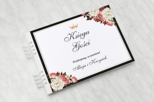 Księga gości ślubnych do zaproszenia z lakiem – Szykowne z różami