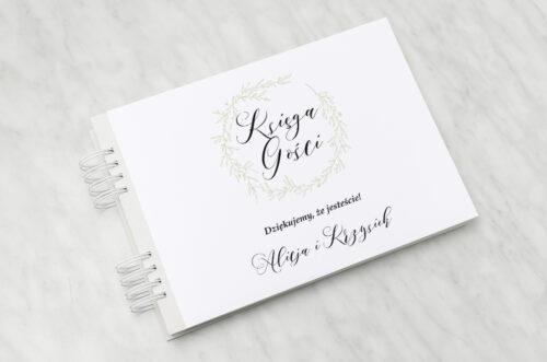 Księga gości ślubnych - Eco z koronkowym kółeczkiem – Wianuszek