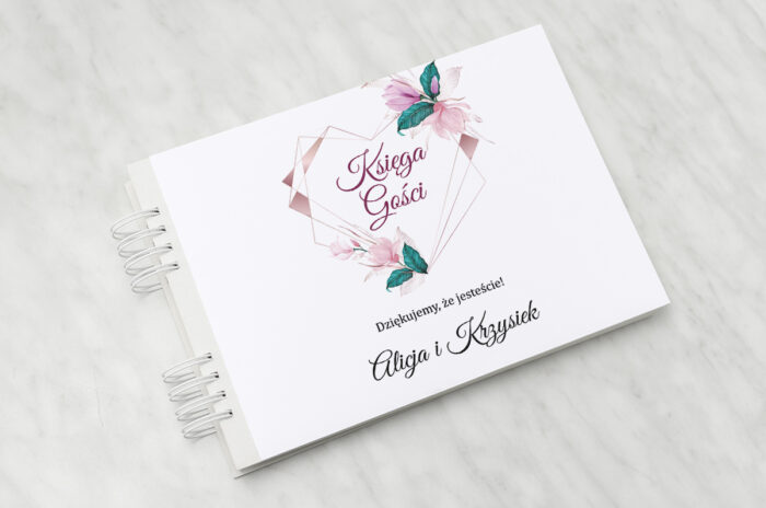 ksiega-gosci-slubnych-geometryczne-serce-rozowe-kwiaty-papier-matowy-dodatki-ksiega-gosci
