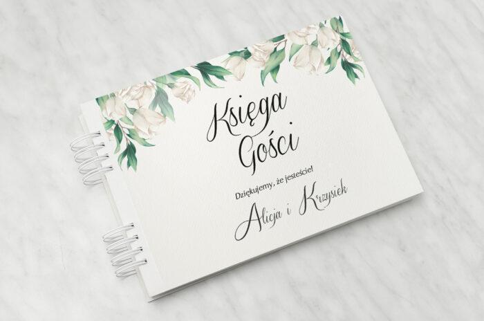 ksiega-gosci-slubnych-do-zaproszenia-kwiatowe-galazki-biale-roze-papier-matowy-dodatki-ksiega-gosci