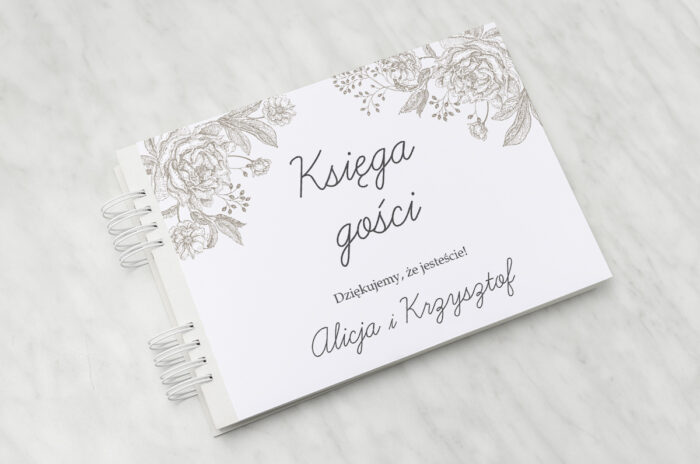 ksiega-gosci-slubnych-kwiatowe-tla-konturowa-roza-papier-matowy-dodatki-ksiega-gosci