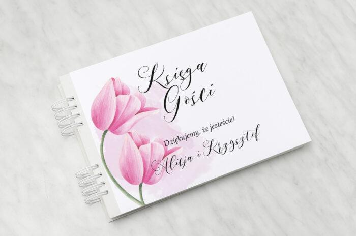 ksiega-gosci-slubnych-namalowane-kwiaty-tulipanowe-papier-matowy-dodatki-ksiega-gosci