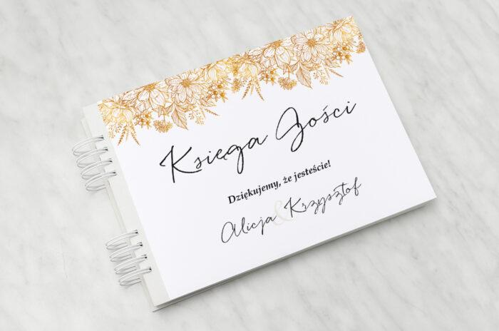 ksiega-gosci-slubnych-jednokartkowe-z-kwiatami-zlote-kwiaty-papier-matowy-dodatki-ksiega-gosci