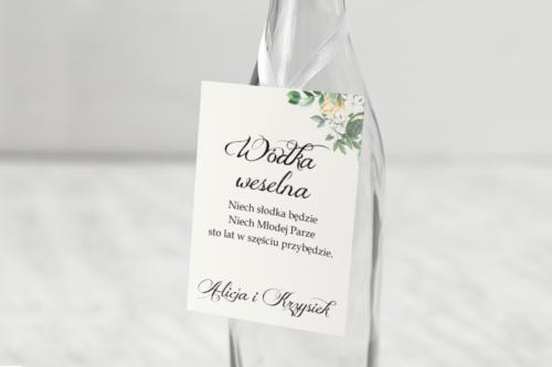 Zawieszka na alkohol - Kwiatowe Gałązki - Biało-Żółty Bukiet