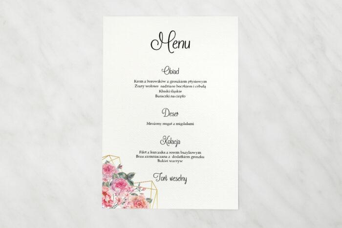 menu-weselne-do-zaproszenia-ze-zdjeciem-i-sznurkiem-rozowy-bukiet-w-sercu-papier-matowy