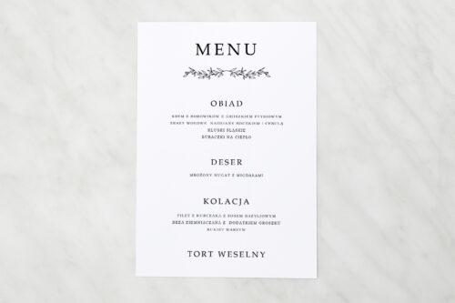 menu weselne do zaproszenia minimalistyczne delikatne