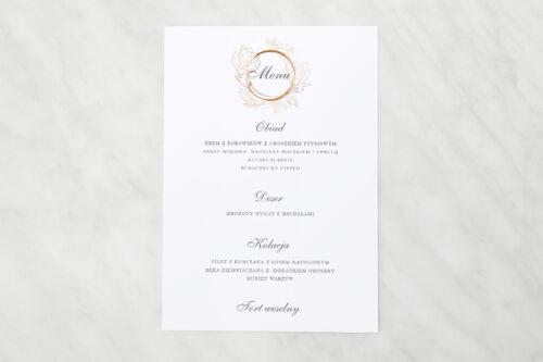 menu weselne do zaproszenia minimalistyczne magnolia