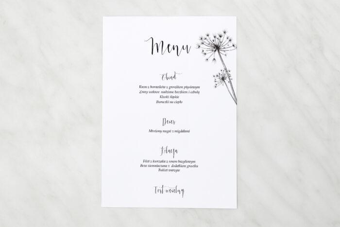 menu-weselne-pasujace-do-zaproszen-bukiet-ze-wstazka-dmuchawce-papier-matowy