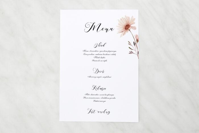 menu-weselne-pasujace-do-zaproszen-bukiet-ze-wstazka-margaretka-papier-matowy