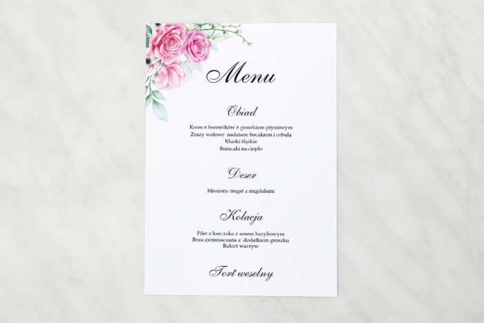 menu-weselne-pasujace-do-zaproszenia-geometryczne-kwiaty-rozowe-roze-papier-matowy