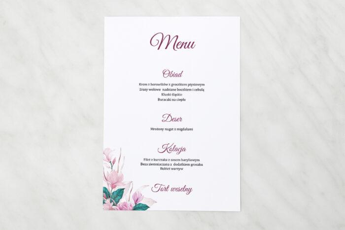 menu-weselne-pasujace-do-zaproszen-geometryczne-serce-rozowe-kwiaty-papier-matowy