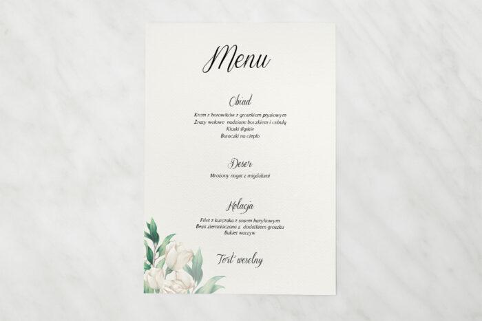 menu-weselne-kwiatowe-galazki-biale-roze-papier-satynowany