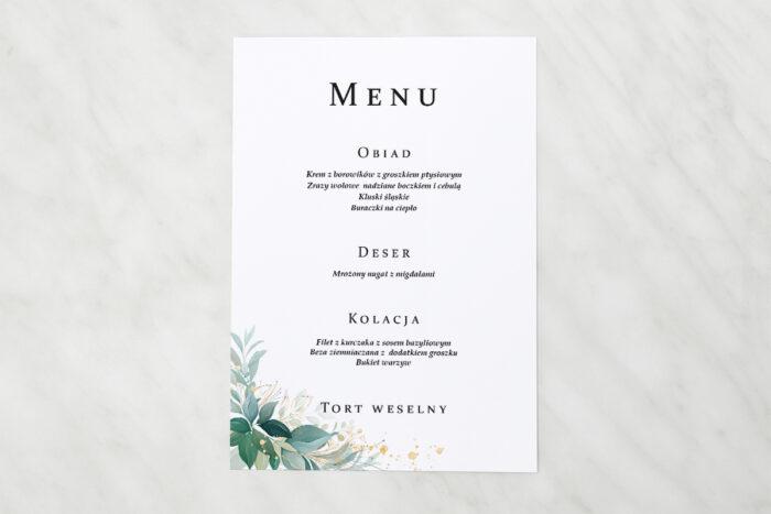 menu-weselne-pionowe-ze-wstazka-listki-ze-zlotem-papier-satynowany