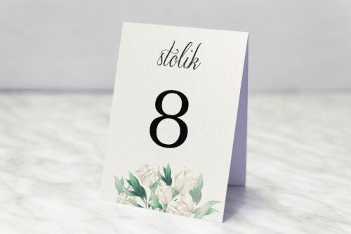 Numer stolika do zaproszenia ślubnego Kwiatowe Gałązki - Białe Róże