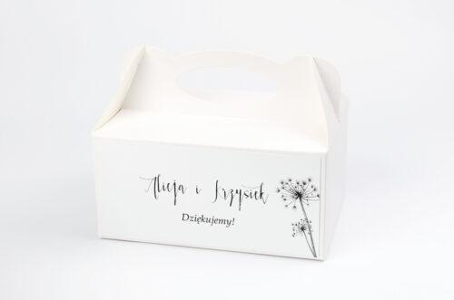 Ozdobne pudełko na ciasto - Bukiet ze wstążką - Dmuchawce