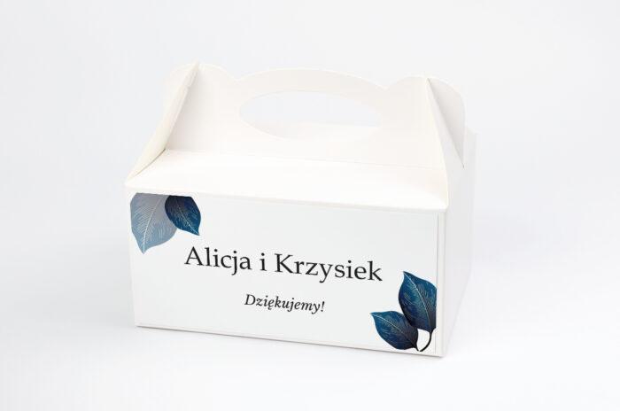 ozdobne-pudelko-na-ciasto-geometryczne-nowoczesne-niebieskie-listki-jasne-papier-satynowany-pudelko-