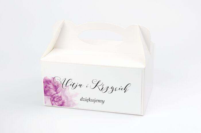 ozdobne-pudelko-na-ciasto-namalowane-kwiaty-fioletowe-kwiaty-papier-satynowany-pudelko-