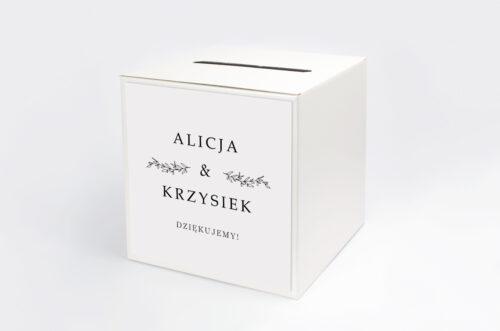 pudełko na koperty do zaproszenia minimalistyczne delikatne