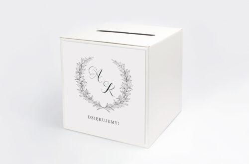 pudełko na koperty do zaproszenia minimalistyczne laur