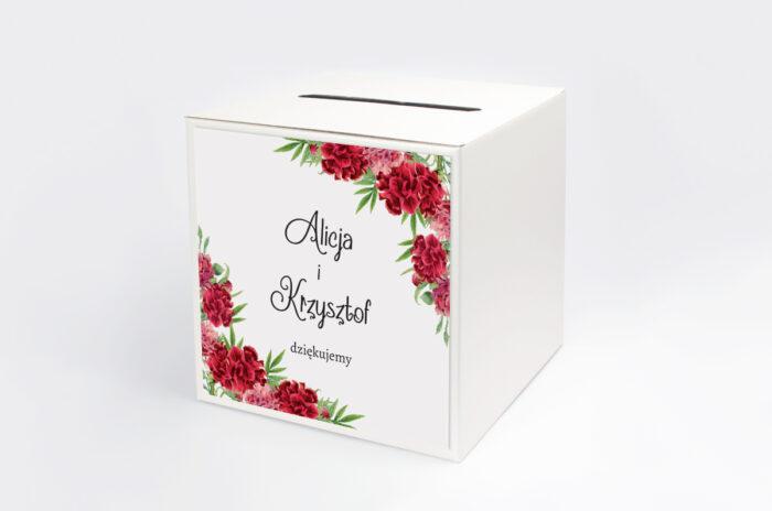 personalizowane-pudelko-na-koperty-do-zaproszenia-ze-zdjeciem-i-sznurkiem-czerwone-gozdziki-papier-satynowany-pudelko-