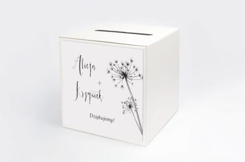 Personalizowane pudełko na koperty - Bukiet ze wstążką - Dmuchawce