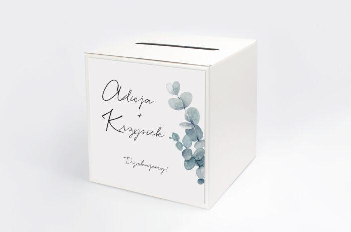 personalizowane-pudelko-na-koperty-bukiet-ze-wstazka-eukaliptus-papier-satynowany-pudelko-