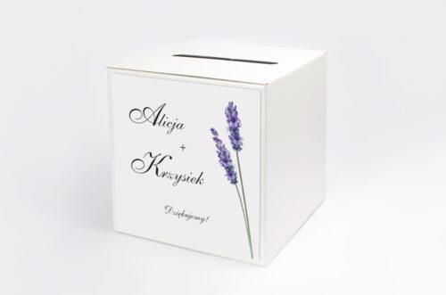 ersonalizowane pudełko na koperty - Bukiet ze wstążką - Lawenda
