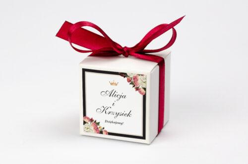 Pudełeczko z personalizacją do zaproszenia z lakiem – Szykowne z różami