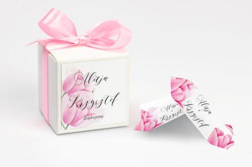 Pudełeczko z personalizacją do zaproszenia Namalowane Kwiaty - Tulipanowe