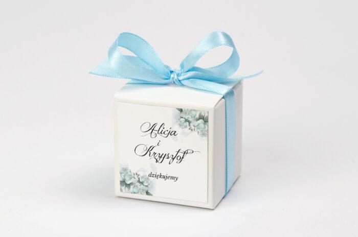 Ozdobne pudełeczko z personalizacją - Kwiatowe Gałązki - Błękitne Róże